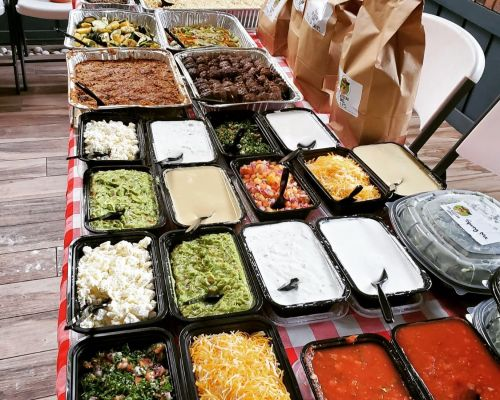 party catering food trays