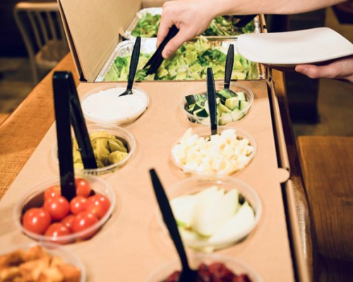 party tray salad bar catering