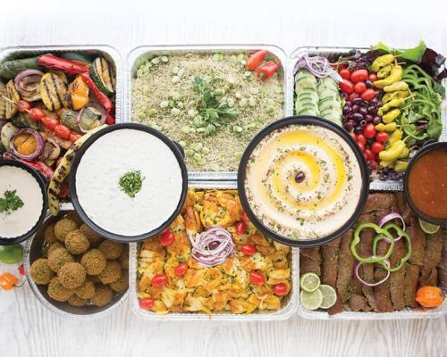 party trays sppetizer platter mediterranean catering food