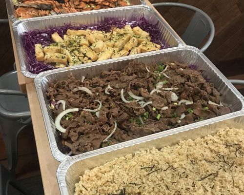 party trays asain food catering