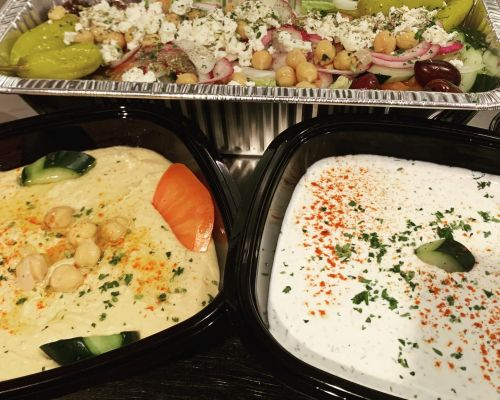 party trays greek food catering