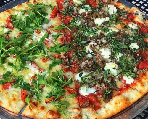 pizza party corporate caterer office meal ideas team lunch