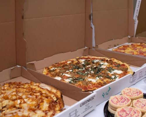 pizza party office catering team meal order beverly hills