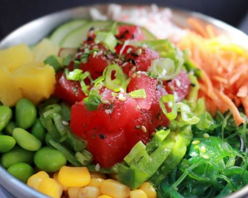 poke bowls healthy business catering