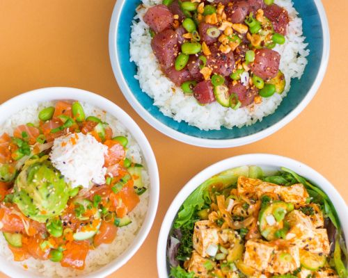 assorted bowl food