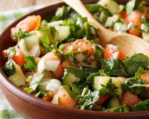 healthy greek salads food
