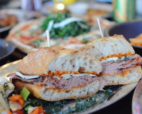 sandwich platter tray food