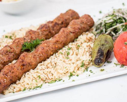 skewers platter food