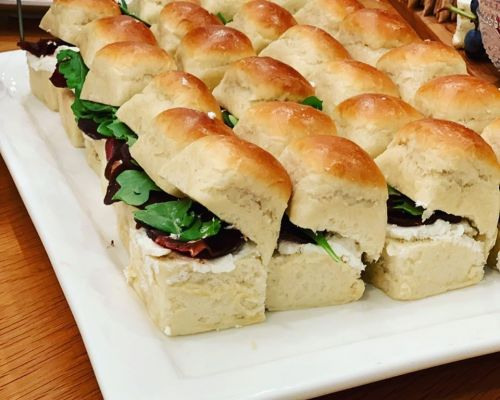snack platter sliders hors doeuvres catering
