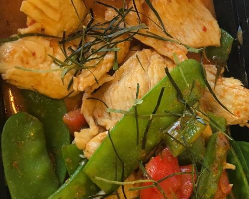 spicy thai cuisine meal