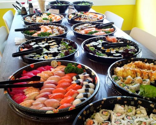sushi party catering packages