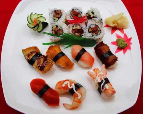 sushi platter party catering boxed meal
