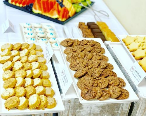 sweet treat cookie dessert table catering palo alto
