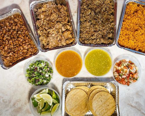 taco bar party catering mexcian buffet food