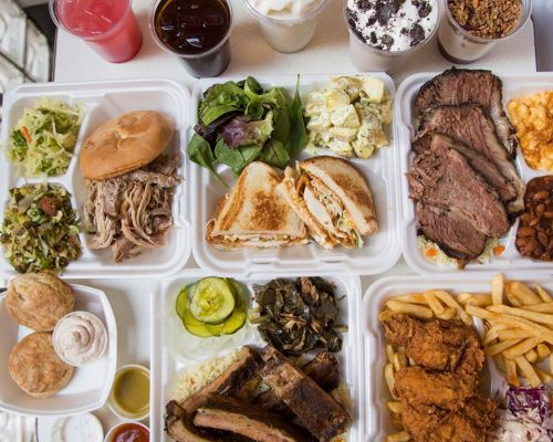 team lunch order food trays office party catering