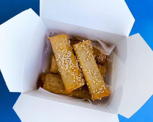 boxed thai food meal