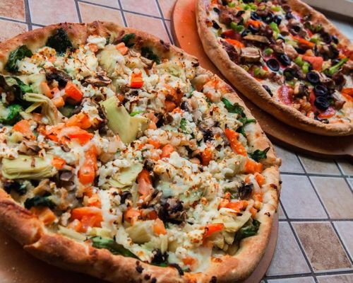 best pizza with healthy ingredients catering