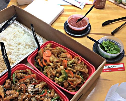 top office catering idea chinese asian food