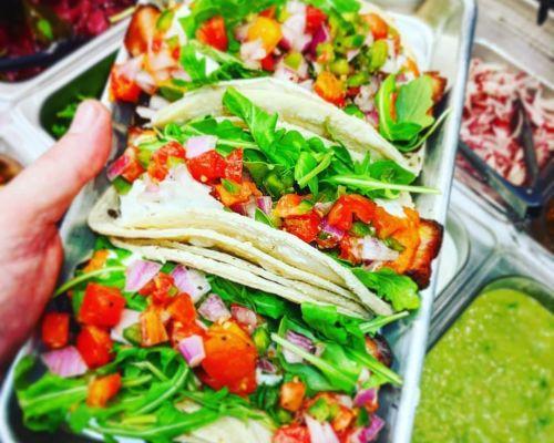 Vegan tacos corporate catering
