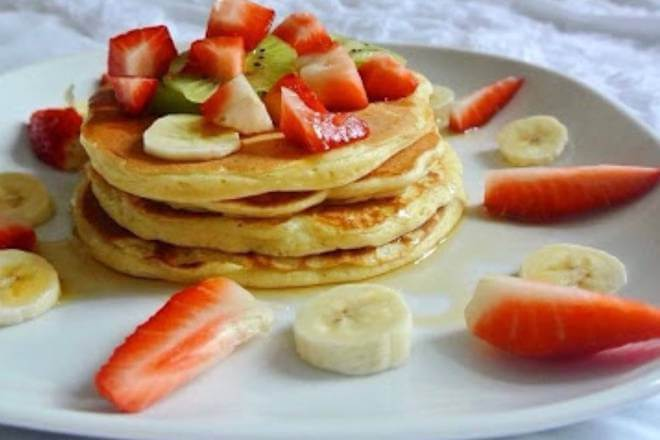 Banana Strawberry Pancake