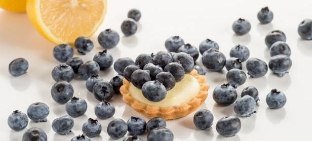 Blue Lemon Tarts (Lemon Cream Tarts with Blueberries)