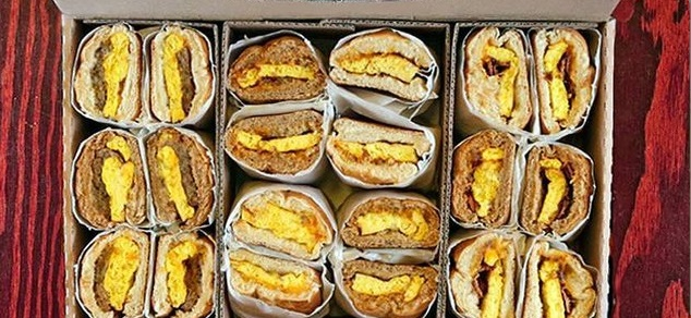 Box O' Breakfast Sandwiches