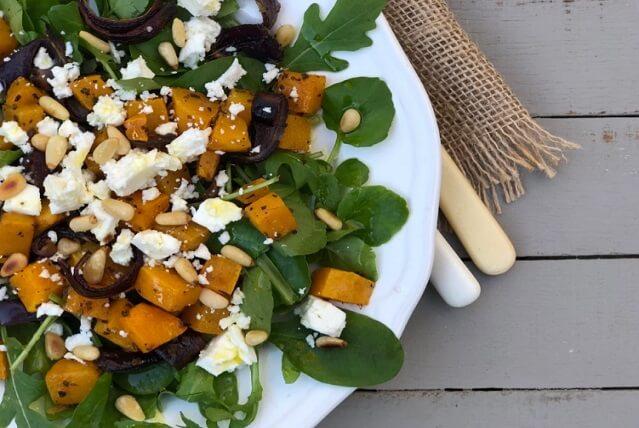 Butternut Squash, Pumpkin Seed, Feta Cheese Salad
