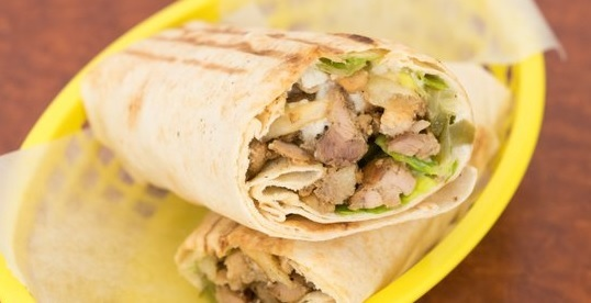 Chicken Shawarma Roll-Up