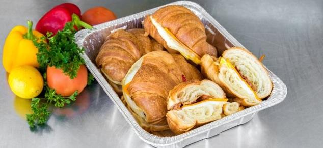 Egg, Bacon & Cheese Croissant Sandwiches